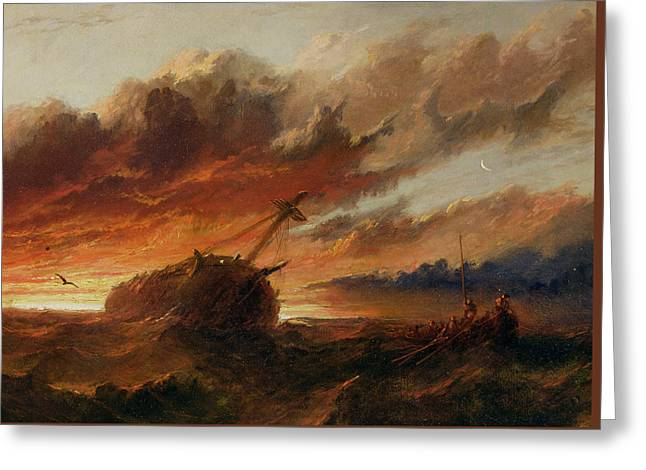 Shipwreck Greeting Card by Francis Danby