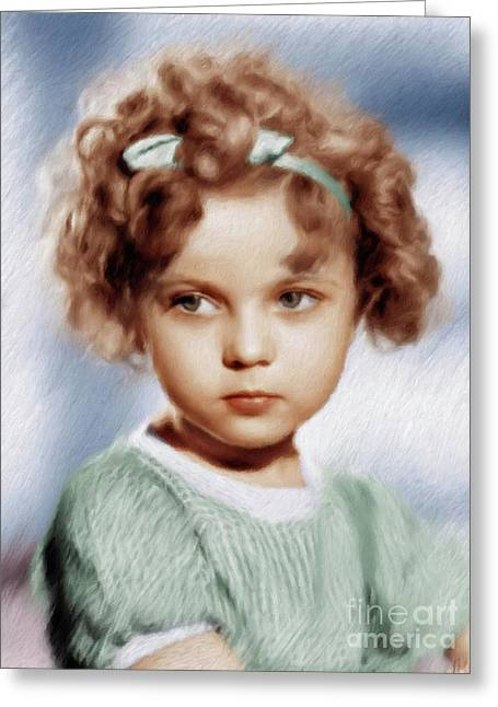 Shirley Temple, Vintage Actress Greeting Card