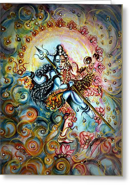 Shiva Shakti Greeting Card by Harsh Malik