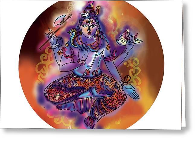 Shiva Dhyan Greeting Card