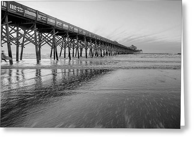 Shoot The Pier Greeting Card by Michael Donahue