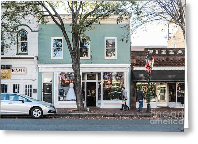 Shop Fronts Of Fredricksburg Virginia Greeting Card by Thomas Marchessault