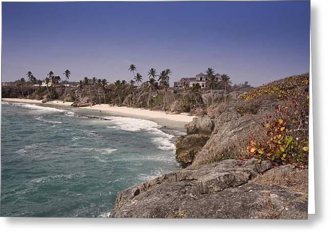 Shores Of Barbados Greeting Card by Andrew Soundarajan