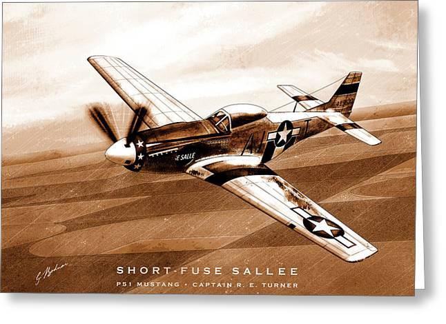 Short-fuse Sallee Greeting Card by Gary Bodnar