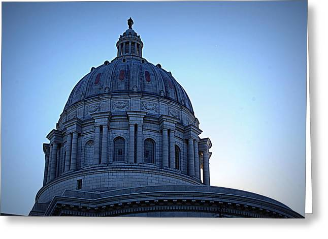 Show-me State Capitol Greeting Card by Cricket Hackmann