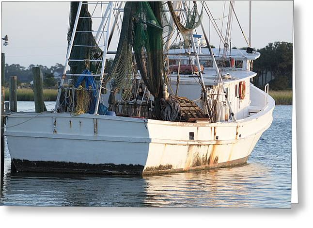 Shrimp Boat Greeting Card by Dustin K Ryan