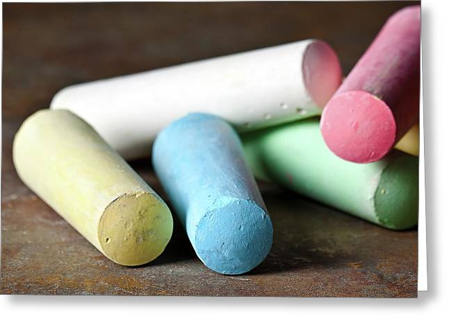 Sidewalk Chalk I Greeting Card by Tom Mc Nemar