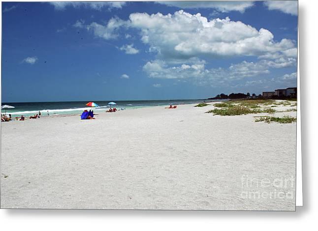 Greeting Card featuring the photograph Siesta Key Beach by Gary Wonning