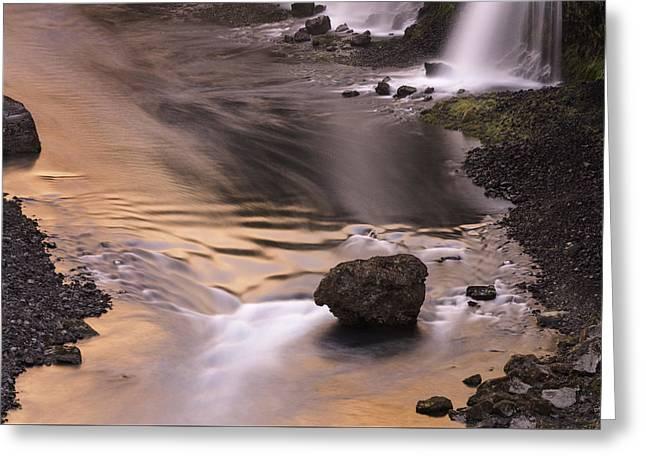 Sigoldufoss Waterfalls Iceland 1315 Greeting Card by Bob Neiman