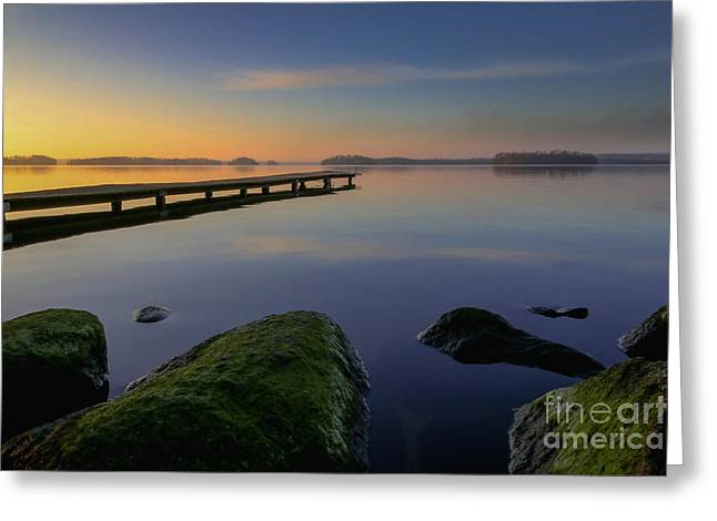 Silence Lake Greeting Card by Franziskus Pfleghart