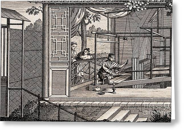 Silk Manufacture In China, Engraving Greeting Card