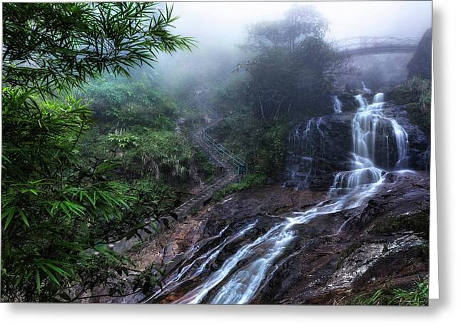 Silver Waterfall - Vietnam Greeting Card