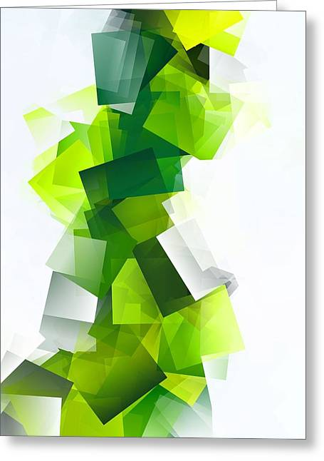 Simple Cubism 30 Greeting Card