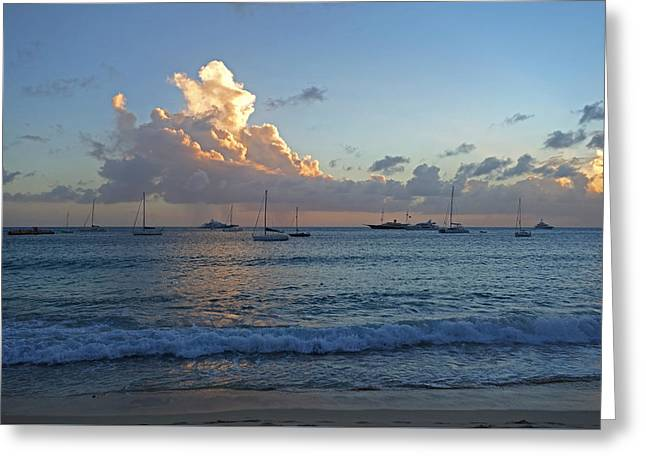 Simpson Bay Sunset Saint Martin Caribbean Greeting Card by Toby McGuire