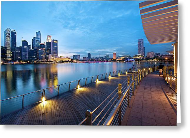 Singapore - Marina Bay Greeting Card