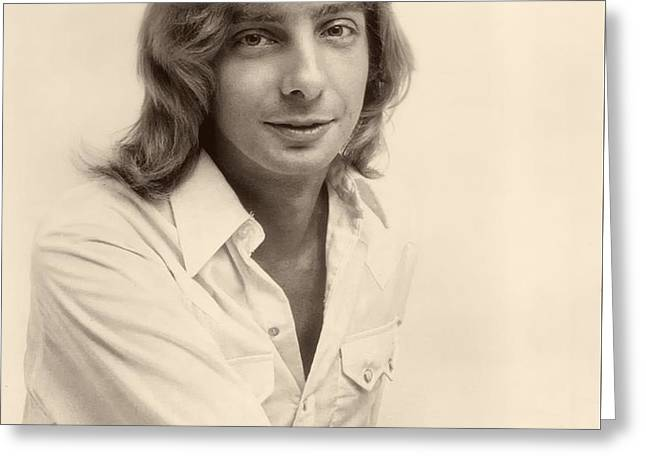 Singer Barry Manilow 1975 Greeting Card