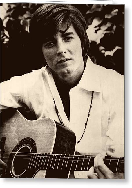 Singer Bobby Sherman 1969 Greeting Card by Mountain Dreams