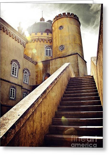 Sintra Palace Greeting Card by Carlos Caetano