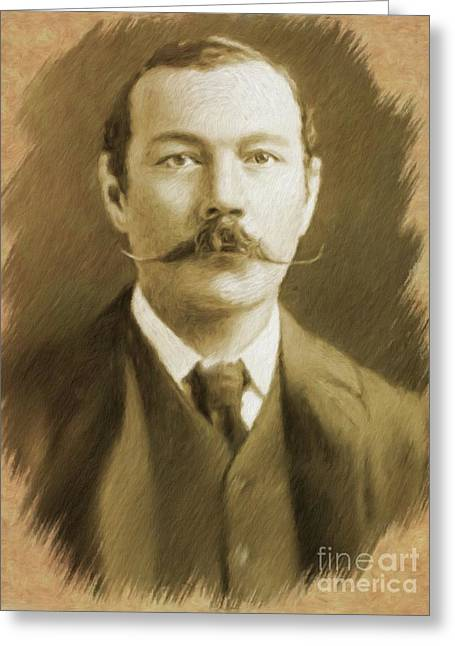 Sir Arthur Conan Doyle Greeting Card