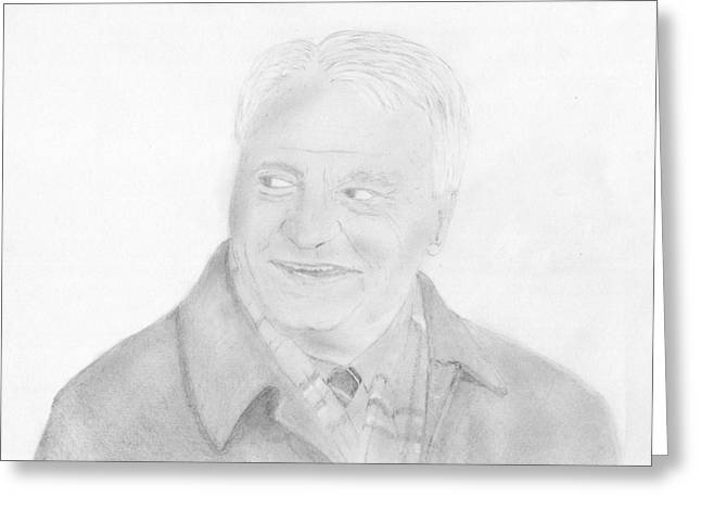 Sir Bobby Robson Greeting Card by Chris Hall