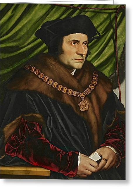 Sir Thomas More Greeting Card by Hans Holbein the Younger