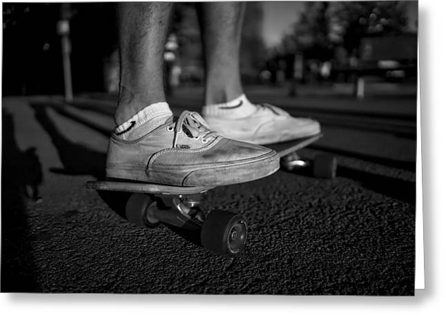 Skateboarding Greeting Card by Christoffer Engstrom