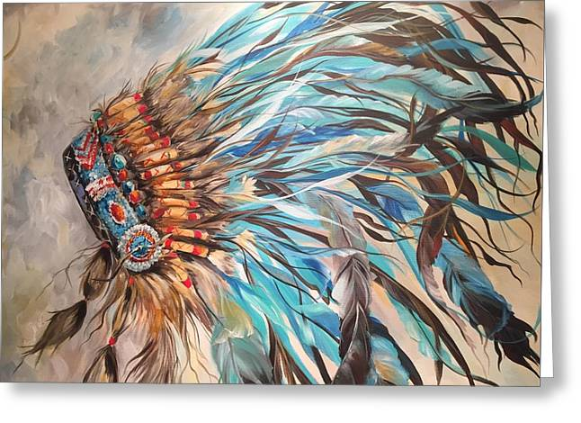 Sky Feather Greeting Card by Heather Roddy