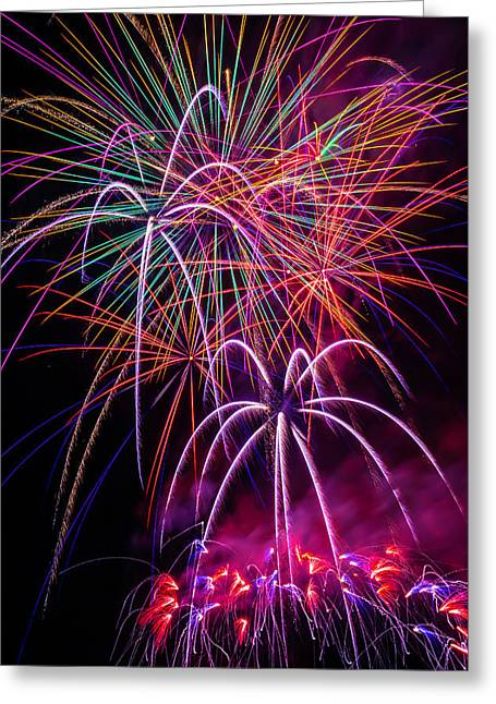 Sky Full Of Fireworks Greeting Card