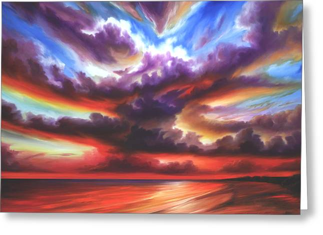 Skyburst Greeting Card by James Christopher Hill