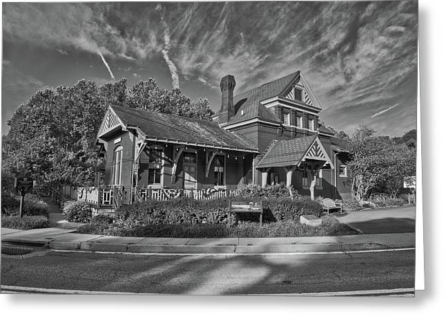 Greeting Card featuring the photograph Skyesville Train Station by Mark Dodd