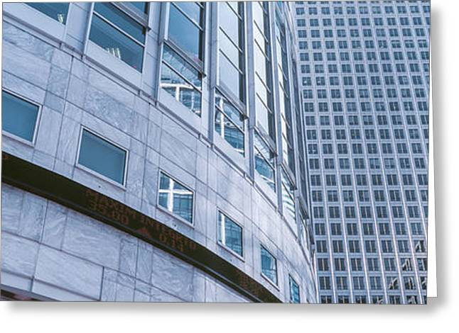 Skyscrapers In A City, Canary Wharf Greeting Card by Panoramic Images