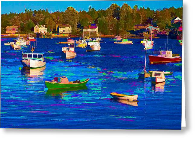 Sleeping Boats II Greeting Card by Jon Glaser