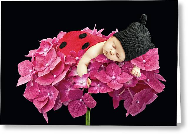 Greeting Card featuring the photograph Sleeping Cute Newborn by Gualtiero Boffi