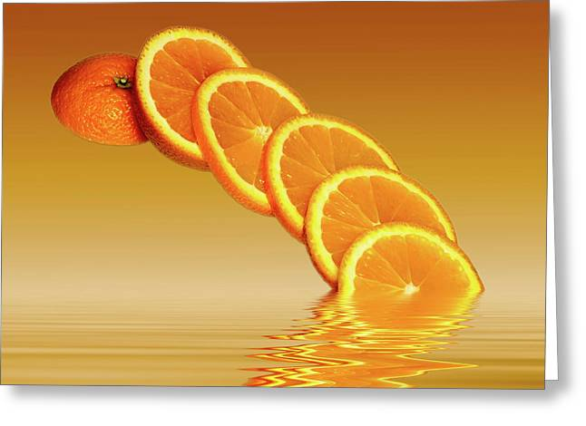 Slices Orange Citrus Fruit Greeting Card by David French