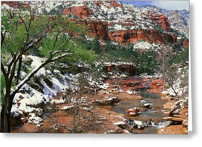 Slide Rock Creek In Wintertime, Sedona Greeting Card