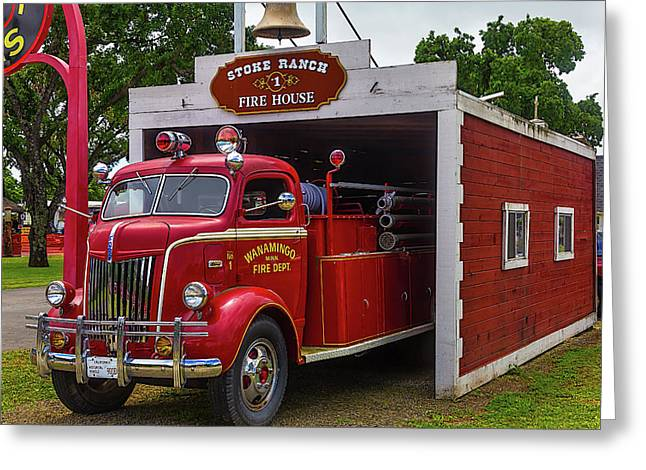 Small Fire House 1 Greeting Card by Garry Gay
