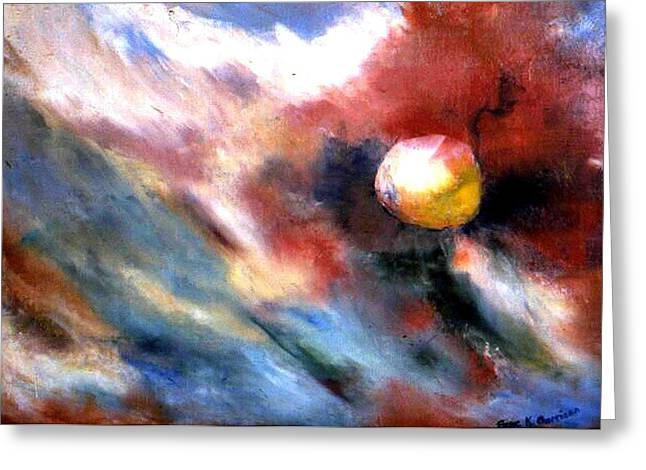 Small Planet Greeting Card by Gene Garrison