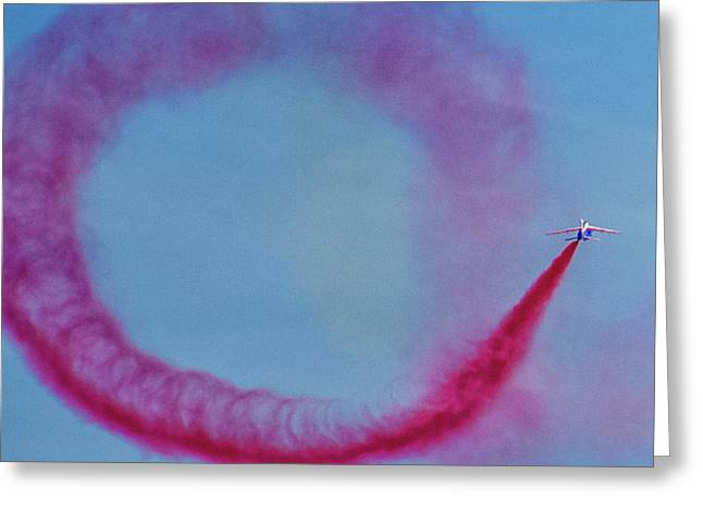 Smoke On Greeting Card by Martin Newman