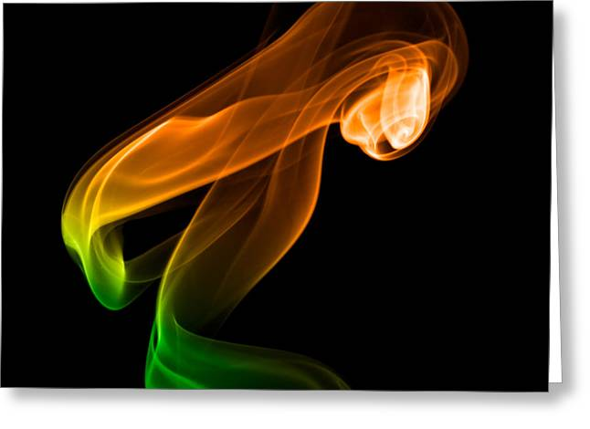 Greeting Card featuring the photograph smoke XIV by Joerg Lingnau