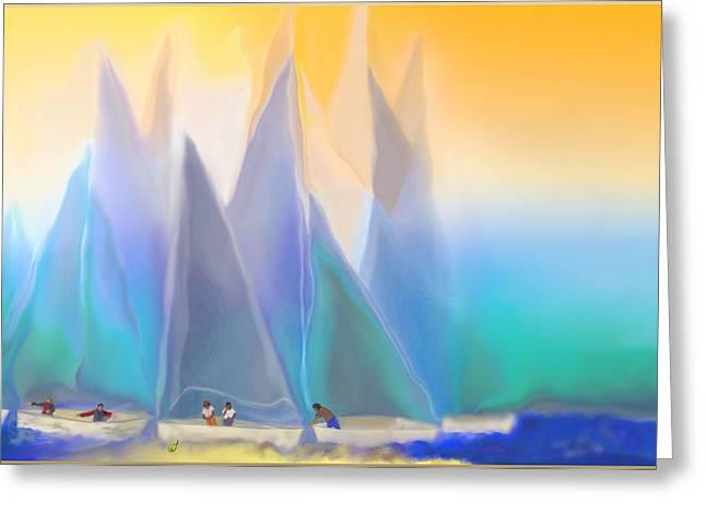 Smooth Sailing Greeting Card by Mathilde Vhargon