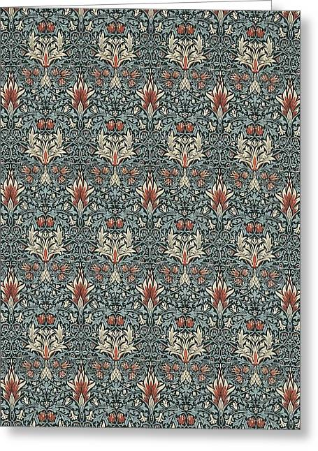 Snakeshead Greeting Card by William Morris
