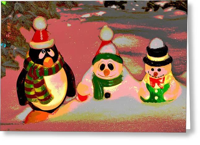 Snow Buddies Greeting Card by Robert Joseph