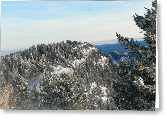 Snow In The Sandias Greeting Card by Jeff Swan