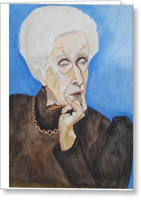 Greeting Card featuring the painting So Curious by Esther Newman-Cohen