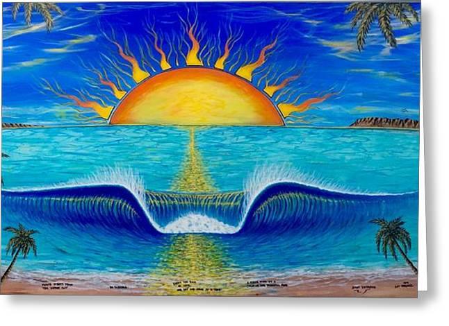 Socal Sunset Greeting Card