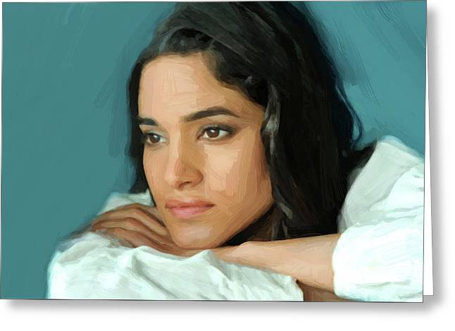 Sofia Boutella Print Greeting Card by Best Actors