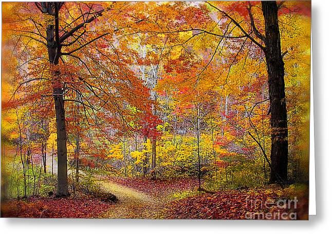 Soft Autumn Rain Greeting Card