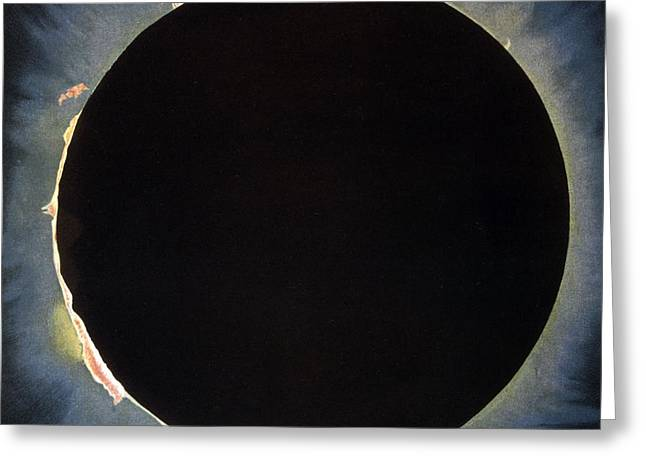 Solar Eclipse, 1860.  Greeting Card