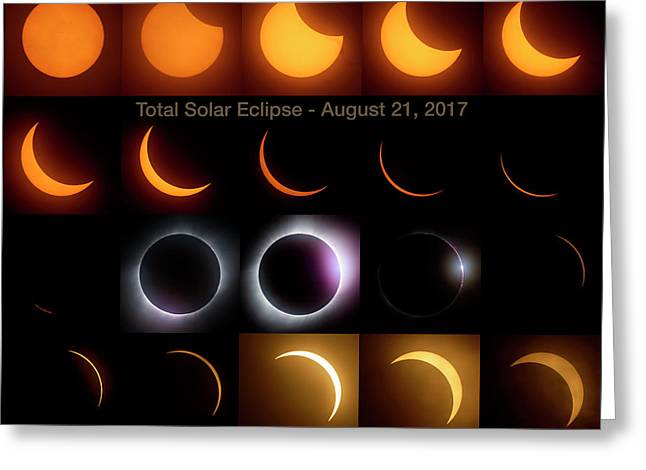 Solar Eclipse - August 21 2017 Greeting Card by Art Whitton