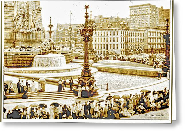 Soldiers' And Sailors' Monument Dedication, Indianapolis, Indian Greeting Card by A Gurmankin
